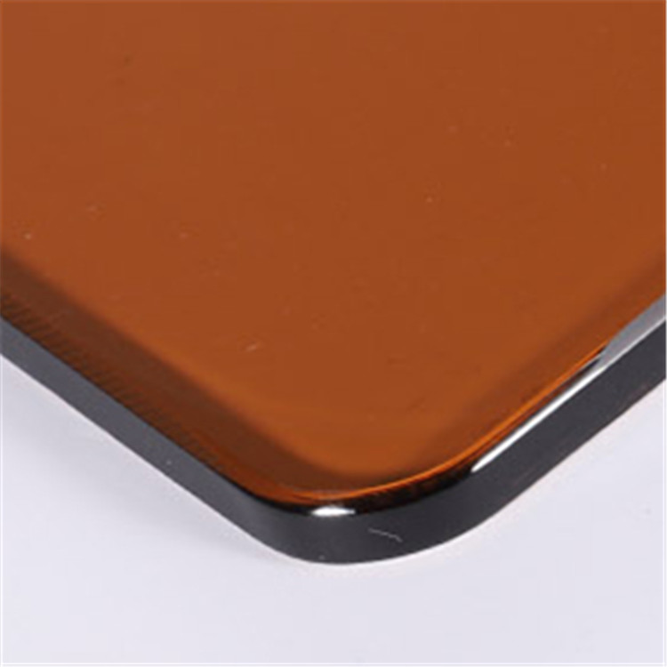 Bronze Color Tempered Glass Round Corner