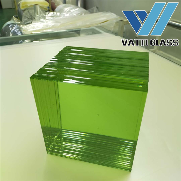 14 Layers Green Color Bulletproof Glass