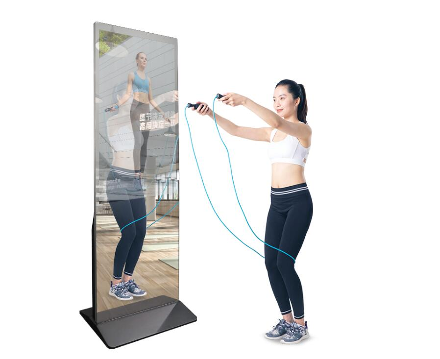 32 inch HD magic mirror display glass, interactive mirror for advertising