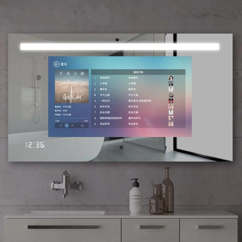 24 inch Bathroom Advertising Magic Lcd Mirror Tv Screen Display Glass